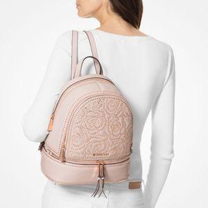 e9c0c85139e6 NWT Michael Kors Soft Pink Embellished Backpack
